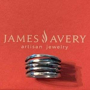 James Avery Stacked Hammered Ring Size 7